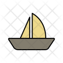 Boat Sailing Sea Icon