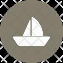 Boat Sailing Sea Icon