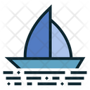 Boating Yacht Holiday Icon