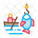 Boat Fishing Canoeing Icon
