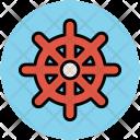 Boat Wheel Ship Icon