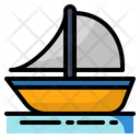 Beach Boat Summer Icon