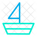 Paper Boat Ship Water Transportation Icon