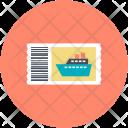 Boat Ticket Travel Icon