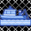 Boat Fishing Icon