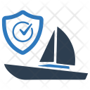 Boat Insurance Protection Icon