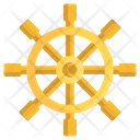 Boat Steering Steering Wheel Ship Icon