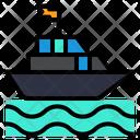 Cruise Boat Trip Sea Trip Icon