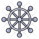 Wheel Boat Steering Icon