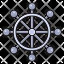 Wheel Boat Steering Icon