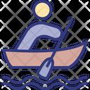 Boat Canoe Human Icon