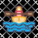 Oar Boat Man Icon