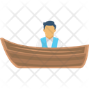 Boating Boatman Boatman In Boat Icon