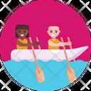 Paddle Boat Boating Icon