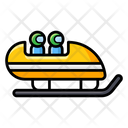 Bobsled Snow Sleigh Ice Ride Icon