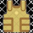 Body Armor Bulletproof Jacket Icon