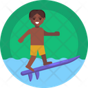 Water Sports Body Boarding Icon