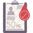Body Weight For Blood Donation Icon