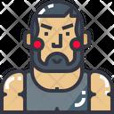 Bodybuilder Fitness Male Icon