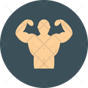 Bodybuilder Fitness Workout Icon