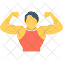 Bodybuilder Weightlifter Strong Icon