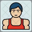 Bodybuilder Male Avatar Icon