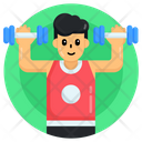 Gym Person Bodybuilder Weightlifter Icon