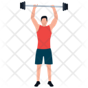 Bodybuilder Weightlifter Gym Person Icon