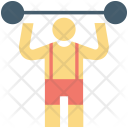 Bodybuilder Fitness Gym Icon