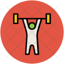 Bodybuilder Weightlifter Exercise Icon