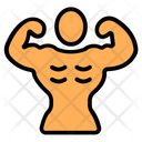 Strong Muscles Strong Person Bodybuilding Icon