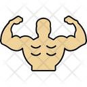 Bodybuilding Strong Muscles Strong Person Icon