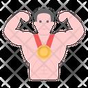 Bodybuilder Achievement Bodybuilder Reward Fitness Winner Icon