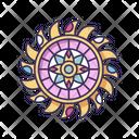 Boho Style Circle Ornament Icon