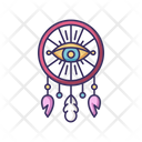 Boho Style Dreamcather With All Seeing Eye Icon
