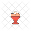 Boiled Egg In Egg Cup Vector Icon Illustration Icon