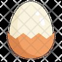 Egg Eggs Half Open Icon