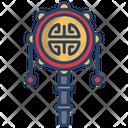 Bolang Gu Pellet Drum Musical Instrument Icon