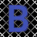 Bold Decoration Font Style Icon