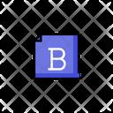 Bold Bold File File Icon