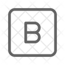 Bold Letter Text Icon