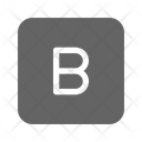 Bold Letter Type Icon