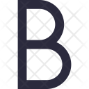 Bold Letter B Icon