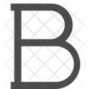 Bold Charecter Font Style Bold Font Style Icon