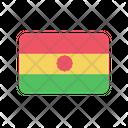 Bolivia Flag Country Icon