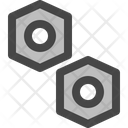 Bolt Material Steel Icon