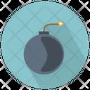 Round Bomb With Burning Wick Icon