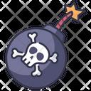 Pirate Skull Bone Icon