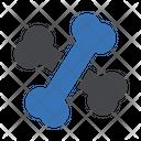 Bone Cross Dog Icon