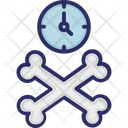 Bones Crossbones Clock Icon